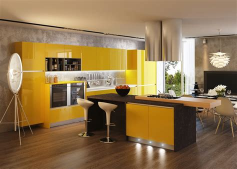 yellow kitchens kitchens with contrast