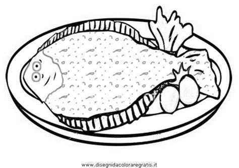 alimenti da colorare disegno sogliola alimenti da colorare