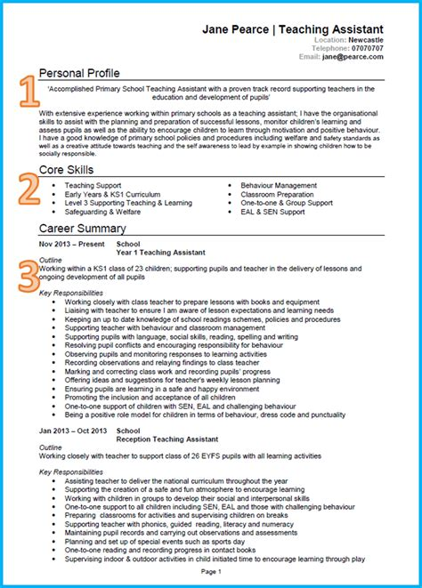 experience summary sle for resume 28 images child care