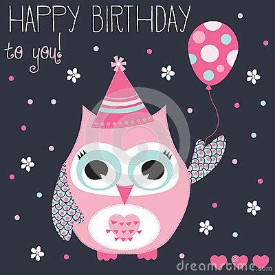 Happy Birthday Owl Meme - happy birthday owl vector illustration stock vector