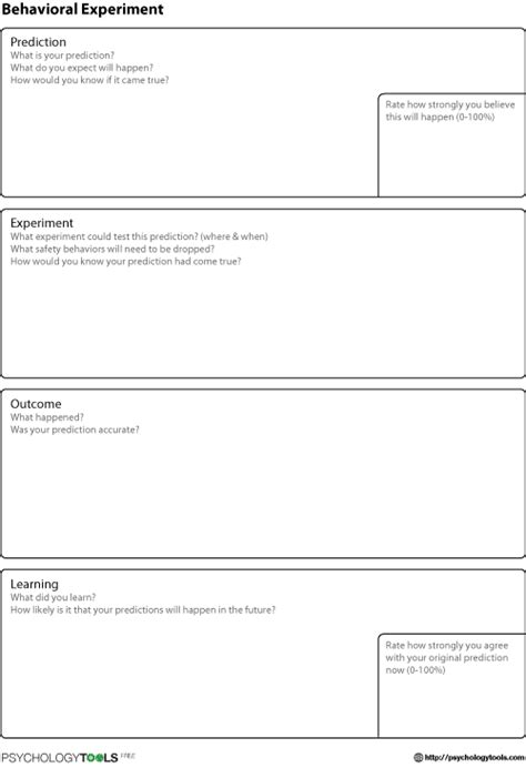 self analysis in farsi proven techniques to help individuals uncover and resolve causes of conflict fear anger and depression edition books behavioral experiment cbt worksheet psychology tools