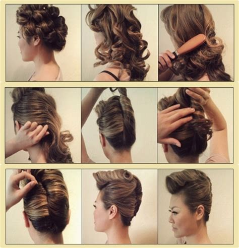 hair style step by step pic simple diy braided bun puff hairstyles pictorial