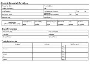 trade reference form template doc 7681024 sle trade reference template trade