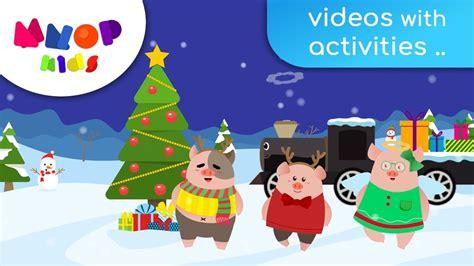 merry christmas christmas songs  kids   pigs mnop kids youtube