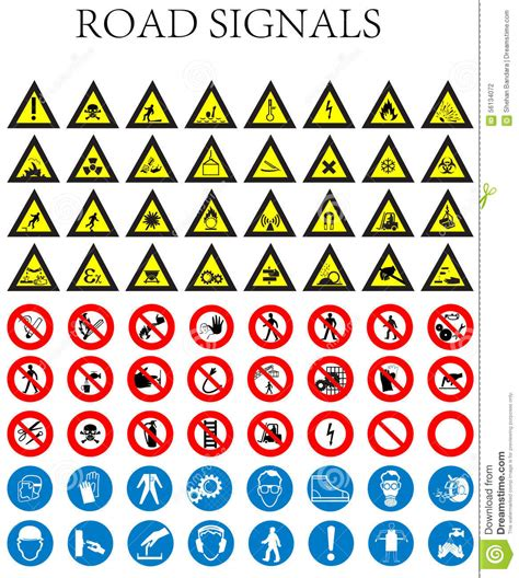 safety sign clipart and stock illustrations 145 171 road signals stock vector image of elements vector