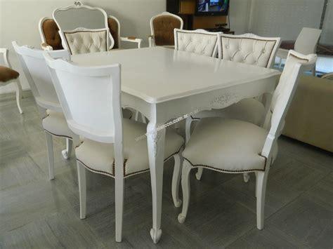 juego de comedor provenzal blanco mesa mts el arcon