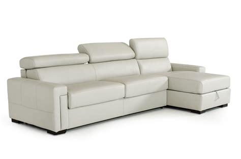 gray leather sleeper sofa estro salotti sacha modern grey leather reversible sofa