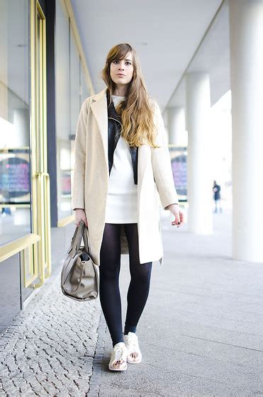 patterned tights lookbook ariadna majewska black patterned tights black and