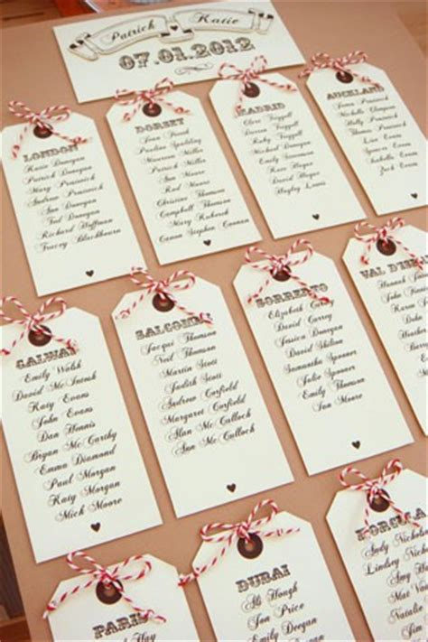 Tag The Table Luggage Tag Cards Bridesmagazine Co Uk