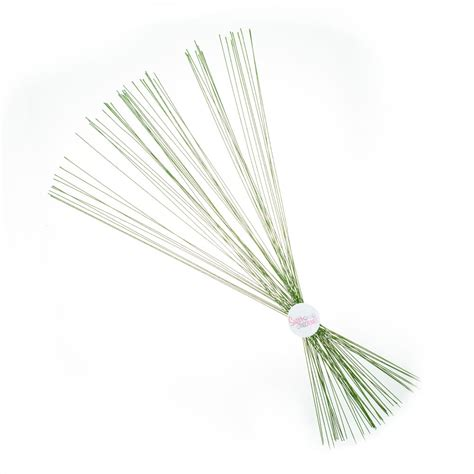 floral wire green 26g pack of 50 sugar and crumbs