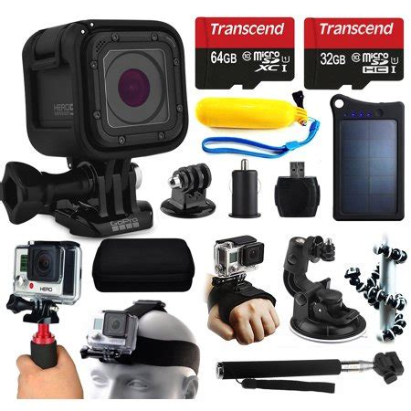gopro hero5 session hd action camera (chdhs 501) + 96gb