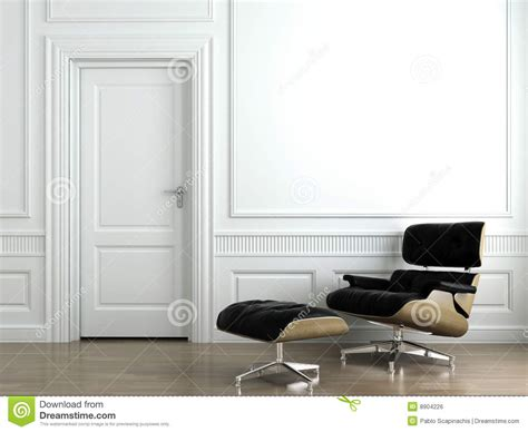 design a wall for free leather armchair on white interior wall royalty free stock image image 8904226