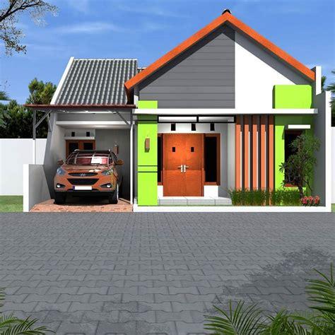 model rumah minimalis sederhana  warna cat hijau desain rumah minimalist bungalow