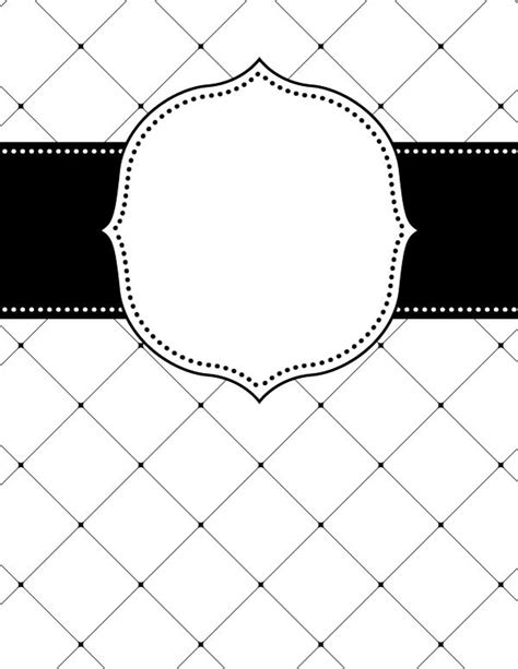 Black And White Binder Cover Templates by Free Printable Black And White Lattice Binder Cover