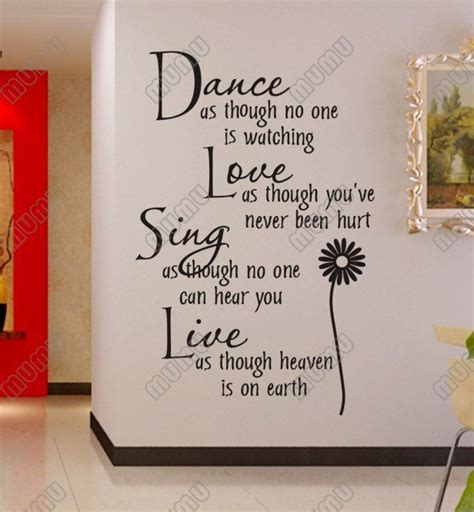 words wall stickers as though no one is vinyl wall lettering stickers quotes and sayings home