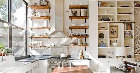 Rak Kabinet Dapur Desain Ruang Dapur Desain Rak Dapur Terbuka Dan Kabinet