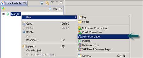 sap tutorial idt sap idt building data foundation
