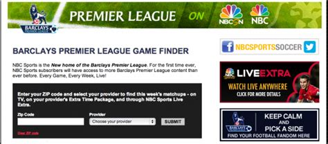 epl on tv today nbc launches epl game finder to help soccer fans find