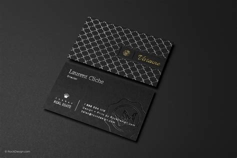 black business card template free silver foil texture visiting card templates