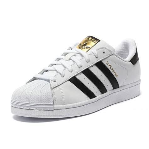 new arrivals adidas logo superstar shoes black stripes