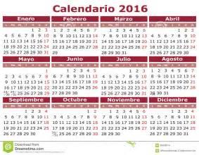 Z Calendario 2016 Calendar 2016 Stock Illustration Image Of