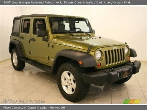 rescue green jeep rubicon rescue green metallic 2007 jeep wrangler unlimited