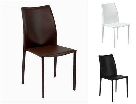 Home Design Staging Group by Dalia Leather Stacking Chair Modern Chairs