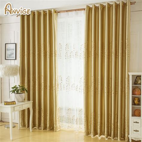 golden color tree pattern window curtains  living room