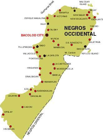 negros occidental map islands of negros occidental
