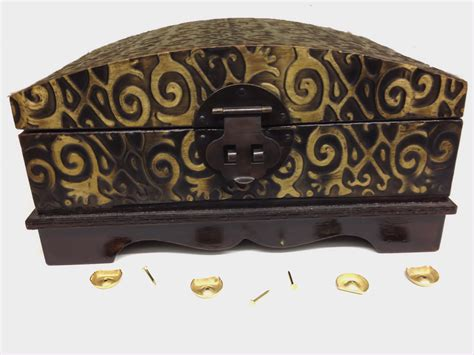 Small Box Feet Solid Brass With Nails Set Of Four