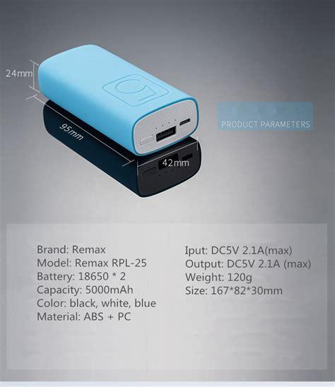 Power Bank Samsung 25 Rb Mah remax rpl 25 5000mah dc5v banca di potere 2 1a per xiaomi
