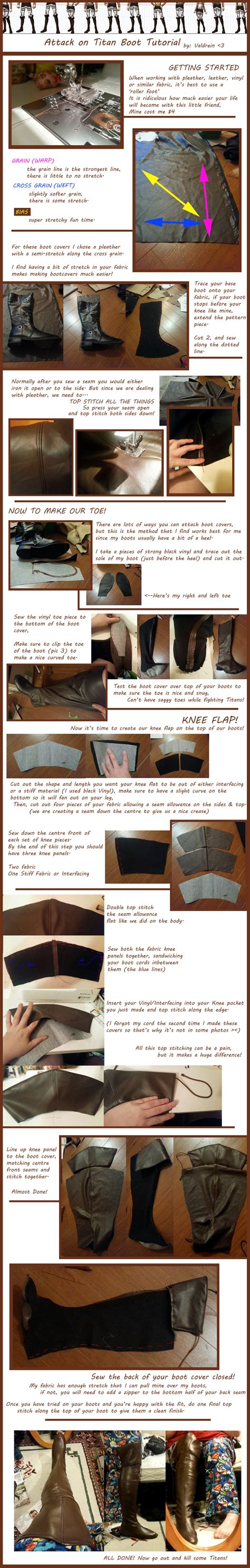 cover quotes tutorial attack on titan boot cover tutorial by valdrein on
