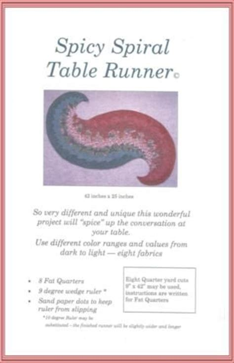spicy spiral table runner quilts