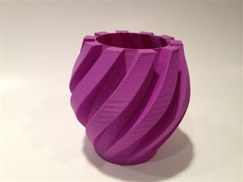 Diy Architecture Software 3d Printed Twisted Gear Vase With Nice Finish Airwolf 3d