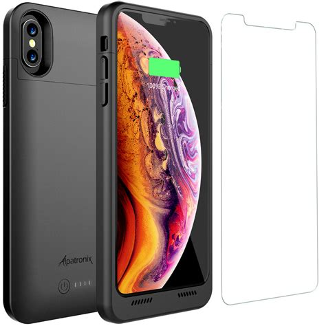 iphone xs max battery case charger cover  qi wireless