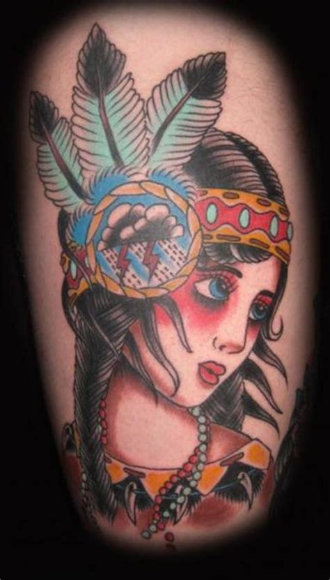 electric soul tattoo new school indian by electric soul