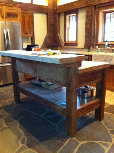 handmade kitchen island a workbench kitchen island handmade houses with noah