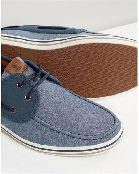aldo huhha boat shoes in blue for lyst