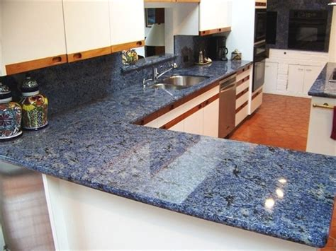 fascinating blue granite countertops in modern and