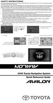 2008 toyota avalon manuals