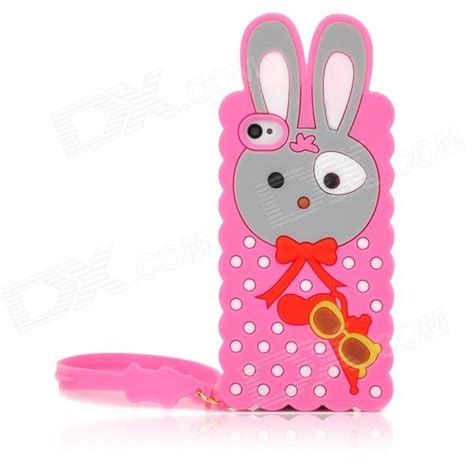 Silicone My Melody Pink Pita Iphone 4 4s 5 5s 6 6s 6plus 6splus melody rabbit style protective silicone back w for iphone 4 4s pink