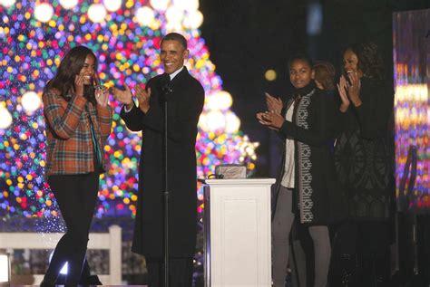 president obama lights national christmas tree today com