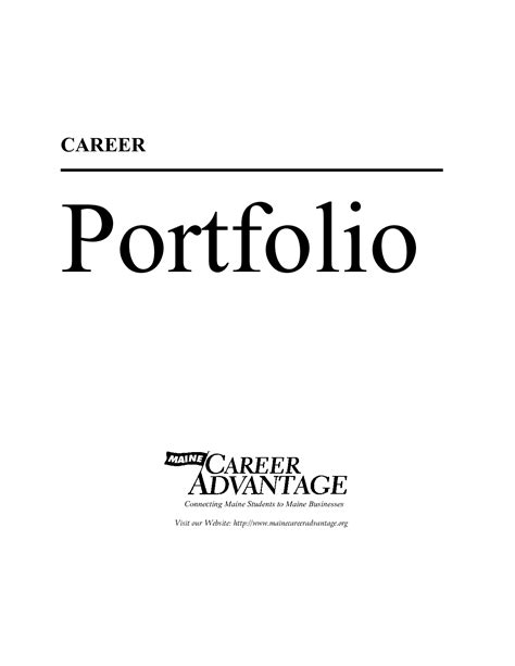 Portfolio Cover Template best photos of career portfolio cover template career