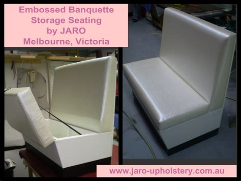 storage banquette seating embossed vinyl storage banquette seat jaro upholstery melbourne cbd phillip island