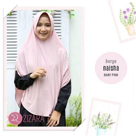 khimar zizara bergo naisha baby pink hijab kerudung