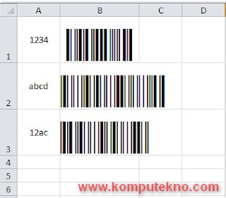 cara membuat barcode di office blog gaul 12 11 14