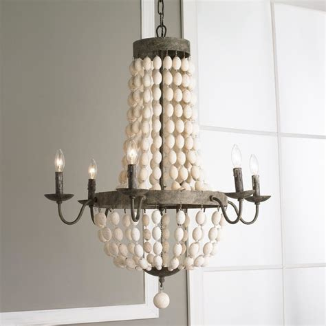 rustic white chandelier white wood and iron basket chandelier rustic