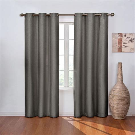 42 inch length window curtains eclipse blackout madison smoke polyester grommet blackout