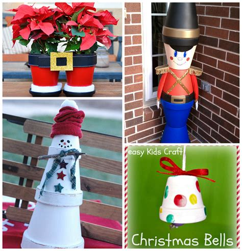 creative terra cotta pot christmas crafts creative