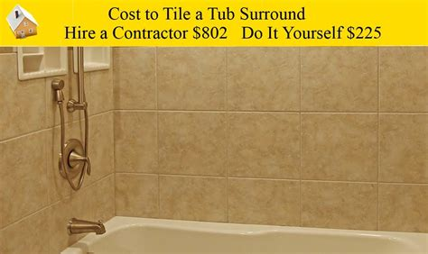 cost to install bathroom cost to tile a tub surround youtube